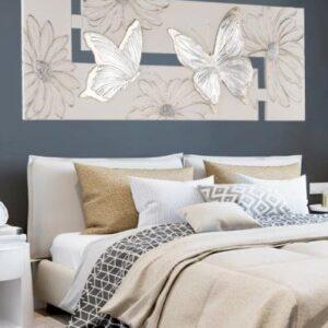 Pannello Farfalle Argento